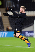 Hull City defender Ondrej Mazuch (3) warms up  during the EFL Sky Bet Championship match between Hull City and Swansea City at the KCOM Stadium, Kingston upon Hull, England on 22 December 2018.