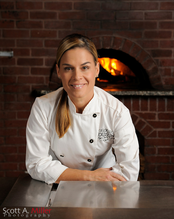 """Oct. 28, 2010; Lake Buena Vista, Fla.:  Chef Cat Cora at her restaurant Kouzzina by Cat Cora at Disney's Boardwalk. Cora an American professional chef best known for her featured role as an """"Iron Chef"""" on the Food Network television show Iron Chef America..©2010 Scott A. Miller"""