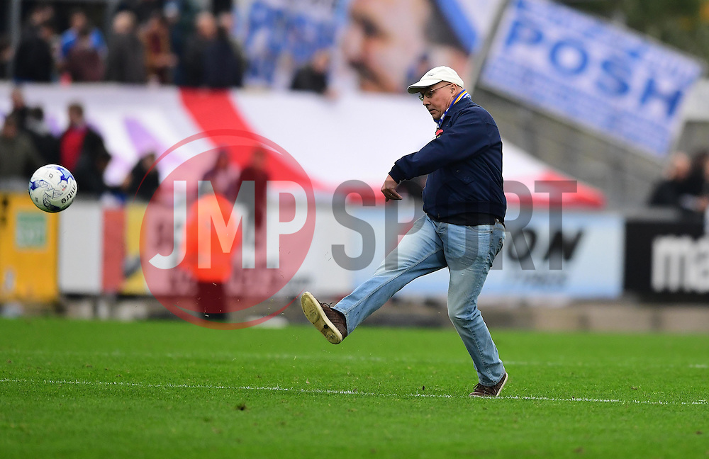 Bristol Rovers fan shoots in a half time competition  - Mandatory by-line: Joe Meredith/JMP - 29/10/2016 - FOOTBALL - Memorial Stadium - Bristol, England - Bristol Rovers v Peterborough United - Sky Bet League One