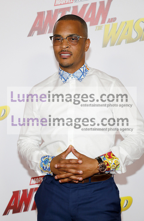 T.I. at the Los Angeles premiere of 'Ant-Man And The Wasp' held at the El Capitan Theatre in Hollywood, USA on June 25, 2018.
