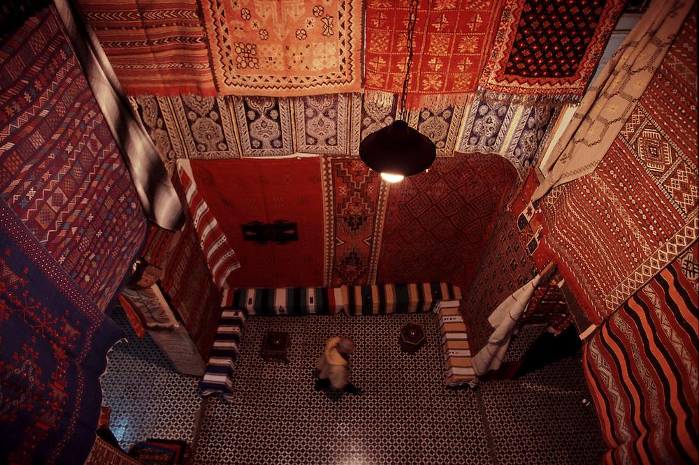 Carpet store in Fez Medina.