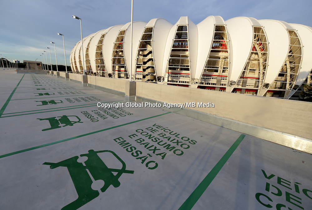 Football Fifa World Cup Brazil 2014 / <br /> Porto Alegre - Rio Grande do Sul - Brazil - <br /> Opening Cerimony of New &quot; BEIRA RIO STADIUM &quot; on Porto Alegre - Rio Grande Do Sul / Brazil , <br /> Ready for the next FIFA World Cup Brazil 2014  , and able to accommodate a capacity of 48.849 Spectators
