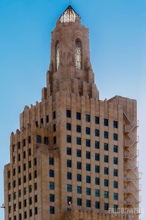 Power and Light Building in downtown Kansas City, Missouri. The historic art-deco skyscraper is undergoing conversion to apartments in 2015 and 2016.