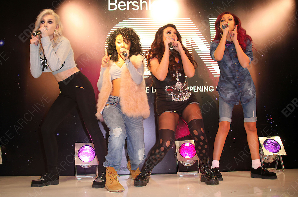 14.NOVEMBER.2012. LONDON<br /> <br /> LITTLE MIX PERFORM AT THE OPENING OF THE NEW BERSHKA STORE ON OXFORD STREET, LONDON<br /> <br /> BYLINE: EDBIMAGEARCHIVE.CO.UK<br /> <br /> *THIS IMAGE IS STRICTLY FOR UK NEWSPAPERS AND MAGAZINES ONLY*<br /> *FOR WORLD WIDE SALES AND WEB USE PLEASE CONTACT EDBIMAGEARCHIVE - 0208 954 5968*