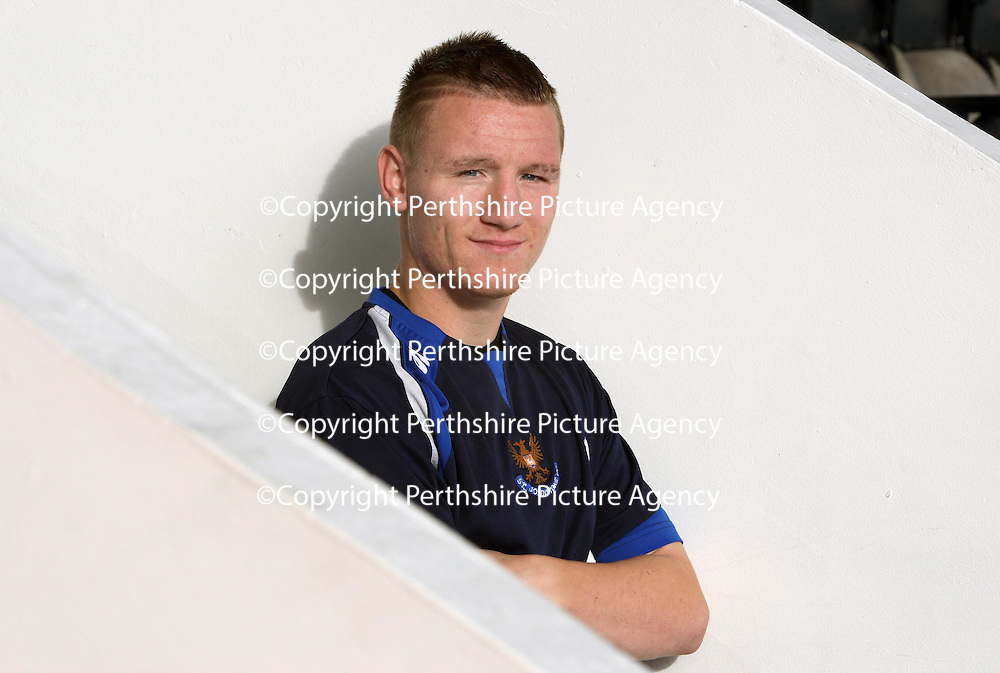 St Johnstone striker Andy Jackson pictured at McDiarmid Park this morning where his excellent start to the season has been rewarded with a new contract.<br /> see story by Gordon Bannerman Tel: 01738 553978 or 07729 865788<br /> Picture by Graeme Hart.<br /> Copyright Perthshire Picture Agency<br /> Tel: 01738 623350  Mobile: 07990 594431