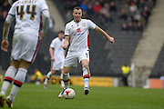 MK Dons defender Antony Kay during the Sky Bet Championship match between Milton Keynes Dons and Rotherham United at stadium:mk, Milton Keynes, England on 9 April 2016. Photo by Dennis Goodwin.