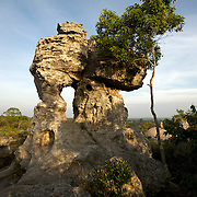 Limestone rock formations on the summit of the Pa Hin Ngam National Park in Thailand.
