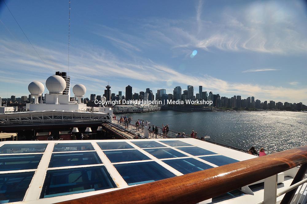 ms Noordam aft + Vancouver skyline