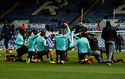 Aston Villa players warming up during the EFL Sky Bet Championship match between Leeds United and Aston Villa at Elland Road, Leeds, England on 1 December 2017. Photo by Paul Thompson.