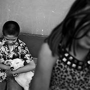 Children who are orphaned by the drug war and have had trouble with drugs are seen in a shelter run by a local pastor who is an ex con in Ciudad Juarez, Mexico. Thousands of children in Mexico are orphans or victims in a myriad of ways of the drug war and the record level of violence. <br /> (Credit Image: © Louie Palu/ZUMA Press)