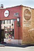 Brobagel bakery and restaurant in Wicker Park in Chicago, Illinois, USA.