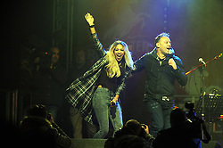 © Licensed to London News Pictures. 15/11/2013<br /> Tamera Foster arrives to turn the lights on. Running on stage<br />  with Toby Anstis<br /> Bluewater,Kent. Christmas Light switch tonight (15.11.2013)<br /> with  Toby Antis, Justin Fletcher (Mr Tumble), Jahmene Douglas and X- factors Tamera Foster from this years show.<br /> Photo credit :LNP