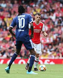 Granit Xhaka of Arsenal on the ball - Mandatory by-line: Arron Gent/JMP - 28/07/2019 - FOOTBALL - Emirates Stadium - London, England - Arsenal v Olympique Lyonnais - Emirates Cup