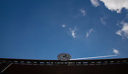 LONDON, ENGLAND - Sunday, April 2, 2017: A general view of Arsenal's Emirates Stadium, featuring the Clock End, pictured before the FA Premier League match against Manchester City at the Emirates Stadium. (Pic by David Rawcliffe/Propaganda)