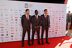 LIVERPOOL, ENGLAND - Tuesday, May 9, 2017: Liverpool's Adam Lallana, Sadio Mane and Trent Alexander-Arnold arrives on the red carpet for the Liverpool FC Players' Awards 2017 at Anfield. (Pic by David Rawcliffe/Propaganda)