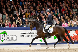 054, Kyando, Van Silfhout Diederik<br /> KWPN Hengstenkeuring - 's Hertogenbosch 2019<br /> © Hippo Foto - Dirk Caremans<br /> 01/02/2019