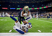 New Orleans Saints running back Alvin Kamara (41) runs the ball during the NFL football NFC championship game against the Los Angeles Rams, Sunday, Jan. 20, 2019, in New Orleans.<br /> <br /> ( Tom DiPace via AP)