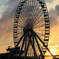 Ferris Wheel at dawn in Wildwood, New Jersey, USA