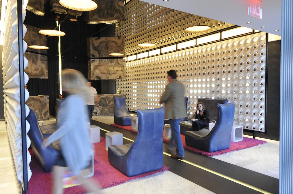 Standard Hotel part of Andre Balazs Properties,  Manhattan, New York City, New York, USA designed by Polshek Partnership Architects, lobby