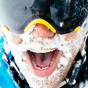 Tanner Flanagan smiles after getting into the biggest storm cycle of the season at JHMR.