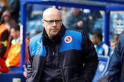 Reading first team manager Brian McDermott before  the Sky Bet Championship match between Queens Park Rangers and Reading at the Loftus Road Stadium, London, England on 23 April 2016. Photo by Andy Walter.