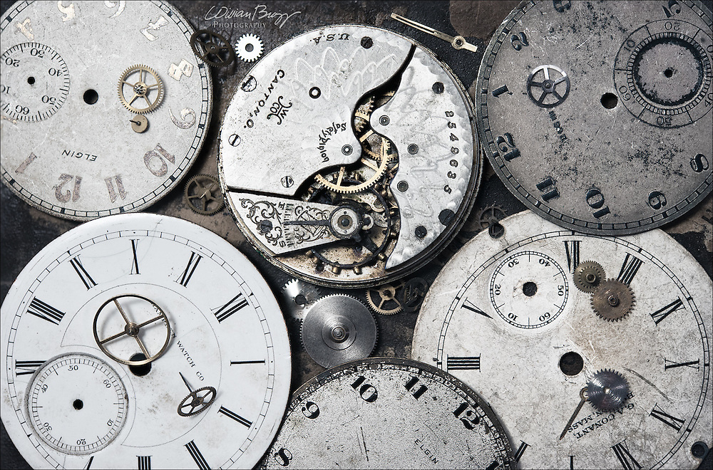 Old pocket watch parts
