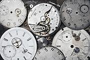 Old pocket watch parts