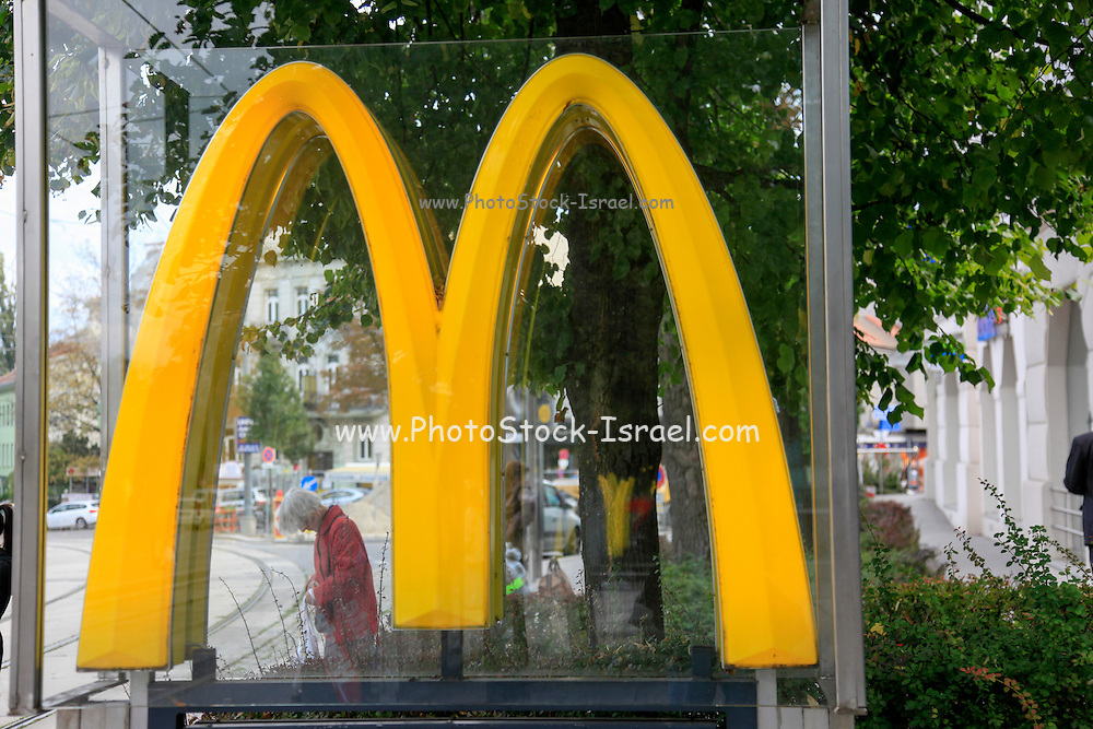 McDonald's sign. Photographed in Vienna, Austria