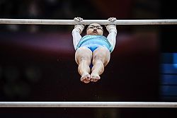 November 2, 2018 - Doha, Qatar - Morgan Hurd of  United States   during  Uneven Bars for Women at the Aspire Dome in Doha, Qatar, Artistic FIG Gymnastics World Championships on 2 of November 2018. (Credit Image: © Ulrik Pedersen/NurPhoto via ZUMA Press)