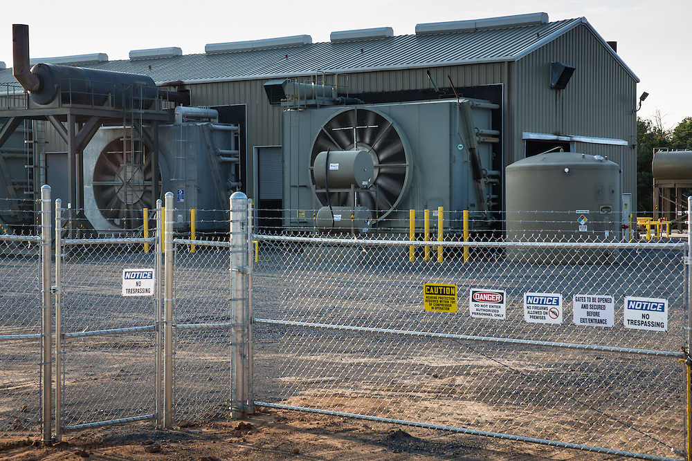 Compressor station in Quitman Arkansas  in Faulkner County which sits on top of the Fayetteville Shale.
