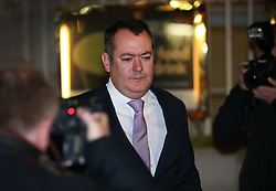 © Licensed to London News Pictures. 05/01/2016. London, UK. Former Shadow culture secretary Michael Dugher leaves television studios near Parliament after being sacked by Labour Party Leader Jeremy Corbyn. Photo credit: Peter Macdiarmid/LNP