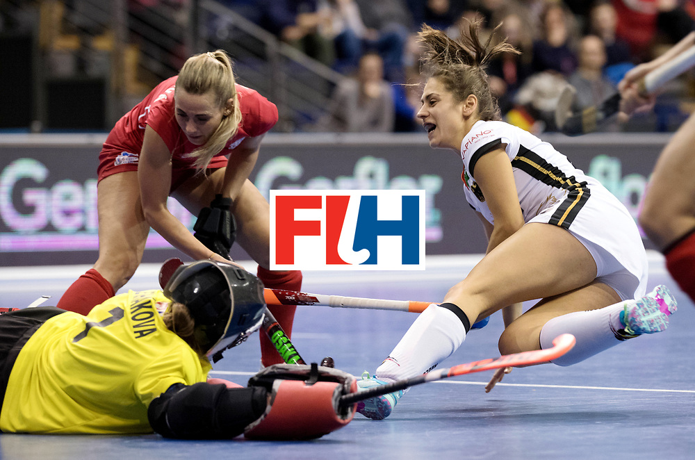 BERLIN - Indoor Hockey World Cup<br /> Women: Czech Republic - Germany<br /> foto: Marie M&auml;vers.<br /> WORLDSPORTPICS COPYRIGHT FRANK UIJLENBROEK