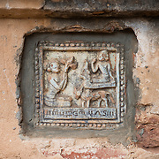 BAGAN, MYANMAR--The Dhammayazika Pagoda (also written as Dhamma-ya-ka Zedi and Dhamma-Yazika) is a Buddhist temple located in the eastern part of the Bagan Archaeological Zone. Completed in 1198, and taking only two years to build, it is estimated that six million bricks were used in its construction. In the 1990s it was completely renovated. It is unusual for its 5-sided design and a highlight is the collection of several hundred tiles telling the jataka stories (about the previous births of Gautama Buddha).