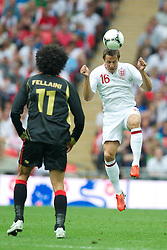 LONDON, ENGLAND - Saturday, June 2, 2012: England's Phil Jagielka in action against Belgium during the International Friendly match at Wembley. (Pic by David Rawcliffe/Propaganda)