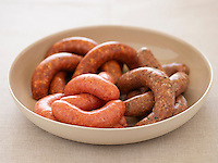 Variety of Sausages in bowl