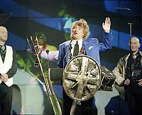 Rod Stewart. The BRIT Awards 1993 <br /> Tuesday 16 Feb 1993.<br /> Alexandra Palace, London, England<br /> Photo: John Marshall - JM Enternational