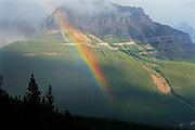 Rainbow. Icefields Parkway. Near Peyto Lake. Banff National Park<br />
