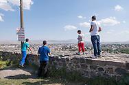 Forteresse de Kars. Kars est une ville de Turquie orientale, préfecture de la province du même nom. Turquie, 2014