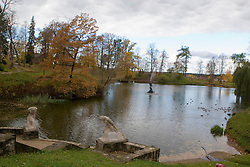 The pond at Castle Park, Cesis, Latvia