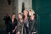 WILLA KESWICK; ALICE DAWSON; AMANDA ELIASCH; MARY CHARTERIS; Amanda Eliasch birthday dinner. North Audley st. London. 12 May 2010. -DO NOT ARCHIVE-© Copyright Photograph by Dafydd Jones. 248 Clapham Rd. London SW9 0PZ. Tel 0207 820 0771. www.dafjones.com.