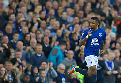 LIVERPOOL, ENGLAND - Saturday, August 30, 2014: Everton's Samuel Eto'o comes on as a substitute to make his debut for the Blues against his former club Chelsea during the Premier League match at Goodison Park. (Pic by David Rawcliffe/Propaganda)