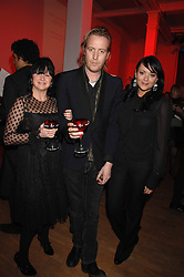 Left to right, FRAN CUTLER, actor RHYS IFANS and actress MARTINE McCUTCHEON at the Art Plus Drama party Held at the Whitechapel Art Gallery, London E1 on 8th March 2007. <br /><br />NON EXCLUSIVE - WORLD RIGHTS