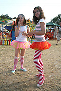 Two young girls dressed as fairies  at the Workhouse Festival, Wales, 2006