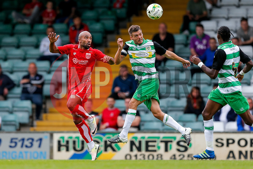 Trialist Samuel Armenteros of Bristol City in action - Mandatory byline: Rogan Thomson/JMP - 16/07/2016 - FOOTBALL - Huish Park - Yeovil, England - Yeovil Town v Bristol City - Pre Season Friendly.