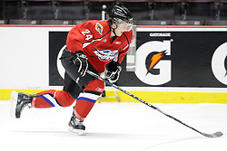 Cam Fowler of the Windsor Spitfires participates in Next Testing at the Home Hardware CHL Top Prospects Game in Windsor, ON on Tuesday. Photo by Aaron Bell/CHL
