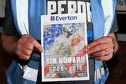 Tim Howard features on the front cover of the match day programme ahead of his final match for Everton - Mandatory byline: Matt McNulty/JMP - 15/05/2016 - FOOTBALL - Goodison Park - Liverpool, England - Everton v Norwich City - Barclays Premier League