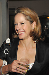 DARCEY BUSSELL at a dinner to celebrate the launch of the Dom Ruinart 1998 vinatage champage at Claridge's, Brook Street, London W1 on 23rd April 2008.<br />