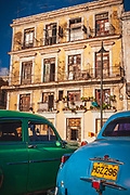 Classic cars on the Malecon, Havana