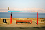 bus stop in the dead sea