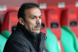"""28.01.2012, SGL Arena, Augsburg, GER, 1. FBL, FC Augsburg vs 1. FC Kaiserslautern, 19. Spieltag, im Bild Trainer Jos LUHUKAY (FC Augsburg) // during the football match of the german """"Bundesliga"""", 19th round, between FC Augsburg and 1. FC Kaiserslautern, at the SGL Arena, Augsburg, Germany on 2012/01/28. EXPA Pictures © 2012, PhotoCredit: EXPA/ Eibner/ Peter Fastl..***** ATTENTION - OUT OF GER *****"""